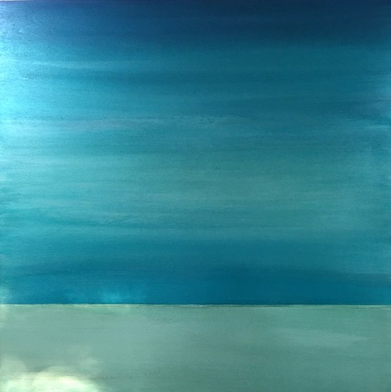 Emerald Sea, 30x30, Mixed Media with Resin on Board (sold)
