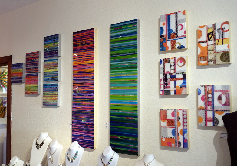 Rainbow Series and Collages at 530 Burns Gallery in Sarasota