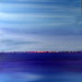 Sunset Skyline, 16x16, Mixed Media on Board with Resin (sold) thumbnail