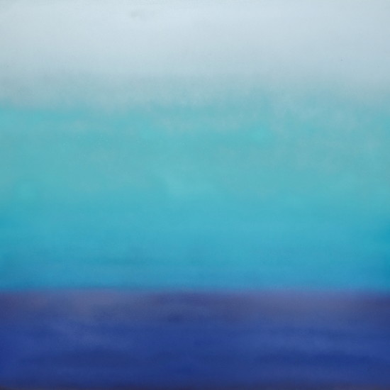 new: Clear Skies, 30x30, pigment on aluminum with resin