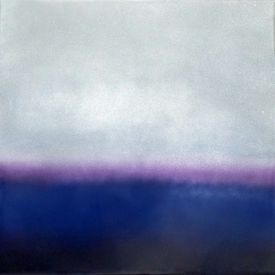 new: Purple Haze, 16x16, pigment on aluminum with resin